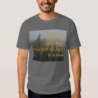 Más altos que los árboles, cita de Henry David Playera