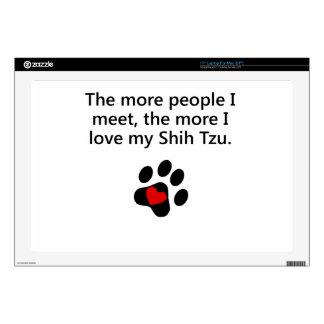 Más amor de I mi Shih Tzu Skins Para 43,2cm Portátiles
