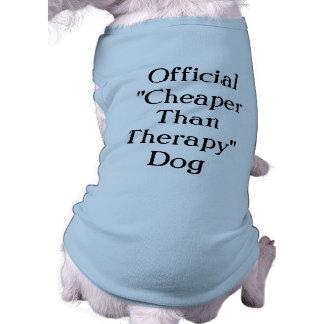 Más barato que la camisa del perro de la terapia playera sin mangas para perro