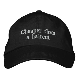 Más barato que un corte de pelo gorros bordados