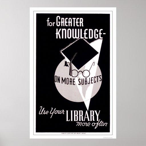 Más biblioteca del conocimiento WPA 1940 Poster