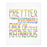 Más bonito que un arco iris hecho de pequeños arco tarjeta publicitaria