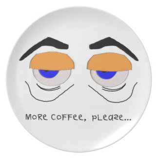 Más café, por favor plato de comida