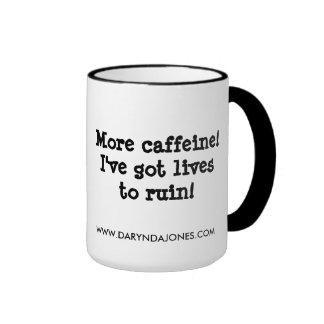 ¡Más cafeína! Taza A Dos Colores