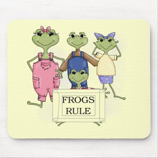 Más camisetas y regalos de la regla de las ranas tapetes de ratones