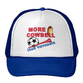 Más cencerro menos camisetas de Vuvuzela, tazas Gorros Bordados