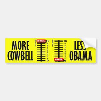 Más cencerro - menos Obama Pegatina Para Auto