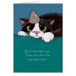 Más cercano a tarjeta de cumpleaños del gato de Pu