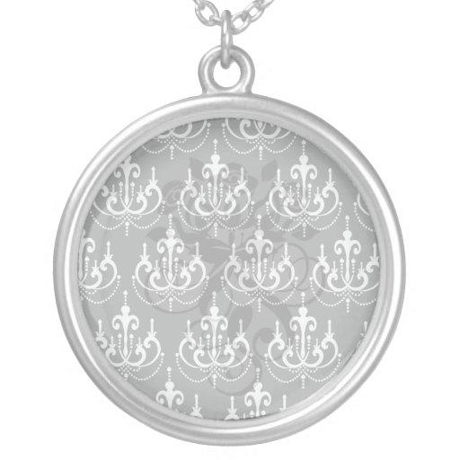 más chadelier blanco en diseño moderno negro del pendiente