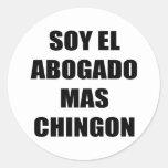 Mas Chingon del EL Abogado de la soja Pegatina Redonda