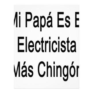 Mas Chingon del EL Electricista del Es de la papá Membrete A Diseño
