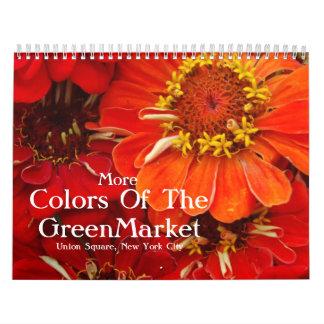 Más colores del GreenMarket Calendario