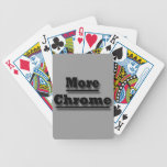 Más croman negro baraja cartas de poker