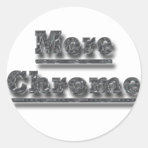 Más cromo del cromo etiqueta