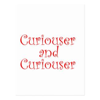 Más curioso y más curioso postales