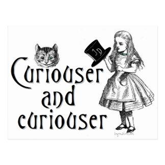 Más curioso y más curioso tarjetas postales