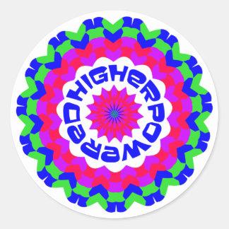 Más de alta potencia etiqueta redonda