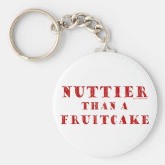 Más de nuez que un Fruitcake Llaveros Personalizados