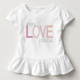 Más del amor camiseta del volante del niño por remera