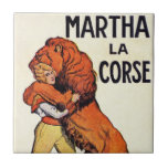 Más doméstico de león de Corse del La de Martha de Azulejo Ceramica