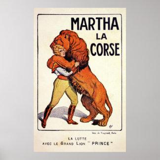 Más doméstico de león de Corse del La de Martha de Póster