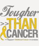 Más duro que el cáncer - cáncer de la niñez camiseta