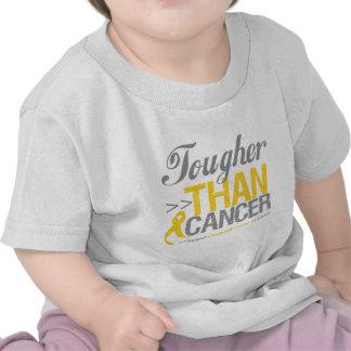 Más duro que el cáncer - cáncer de la niñez camisetas