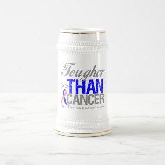 Más duro que el cáncer - cáncer de pecho masculino jarra de cerveza