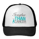 Más duro que el cáncer - cáncer ovárico gorras de camionero