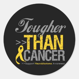 Más duro que el cáncer - Neuroblastoma Pegatina Redonda