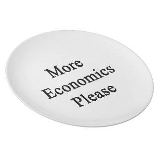 Más economía por favor platos de comidas