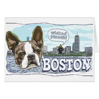 Más engranaje travieso de Boston Terrier Pissah Tarjeta De Felicitación