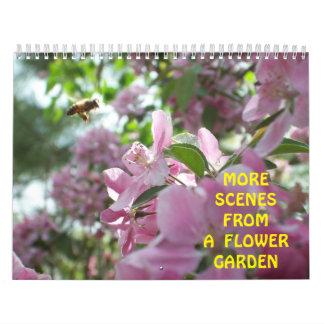 Más escenas de un jardín de flores calendarios de pared