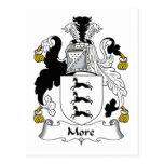 Más escudo de la familia tarjetas postales