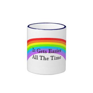 Más fácil taza de dos colores