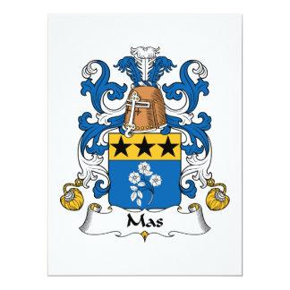 Mas Family Crest Card