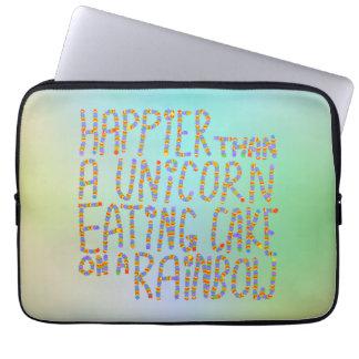 Más feliz que un unicornio que come la torta en un manga portátil