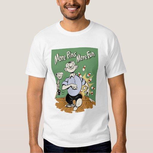 """""""Más fija camisa de los bolos del dibujo animado"""