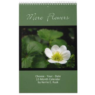 Más flores - sola página de la calendario
