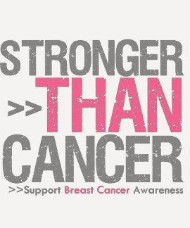 Más fuerte que el cáncer - cáncer de pecho t-shirt