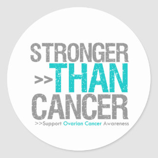 Más fuerte que el cáncer - cáncer ovárico pegatina redonda