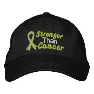 Más fuerte que el cáncer - linfoma gorras de béisbol bordadas