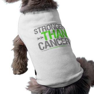 Más fuerte que el cáncer - linfoma Non-Hodgkin Playera Sin Mangas Para Perro