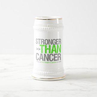 Más fuerte que el cáncer - linfoma Non-Hodgkin Jarra De Cerveza