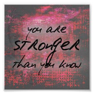 Más fuertes inspirados que usted saben cita cojinete