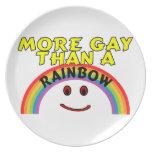Más gay que un arco iris platos para fiestas