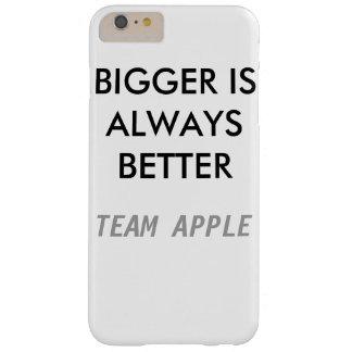Más grande es siempre mejores el caso más de funda para iPhone 6 plus barely there