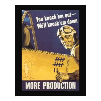 """Más guerra mundial de la producción 2 folleto 8.5"""" x 11"""""""