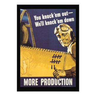 Más guerra mundial de la producción 2 comunicado personalizado