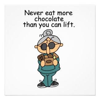 Más humor del chocolate invitación personalizada